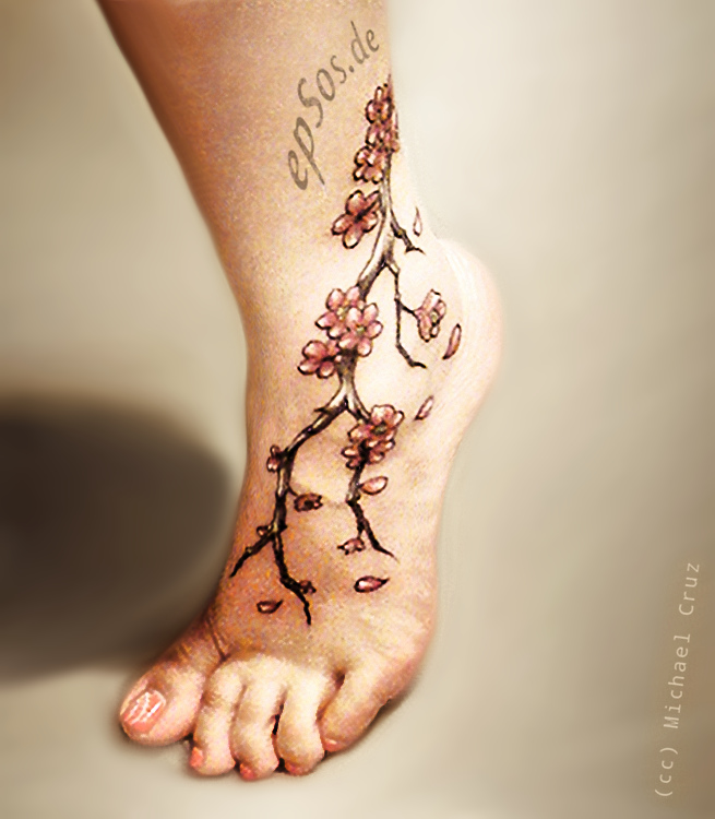 Best female foot tattoo for women.