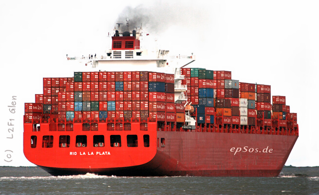 Biggest shipping container ship.