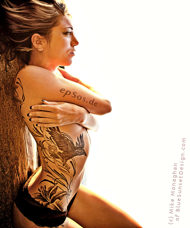 Best idea for female back tattoo designs for women in bikini.