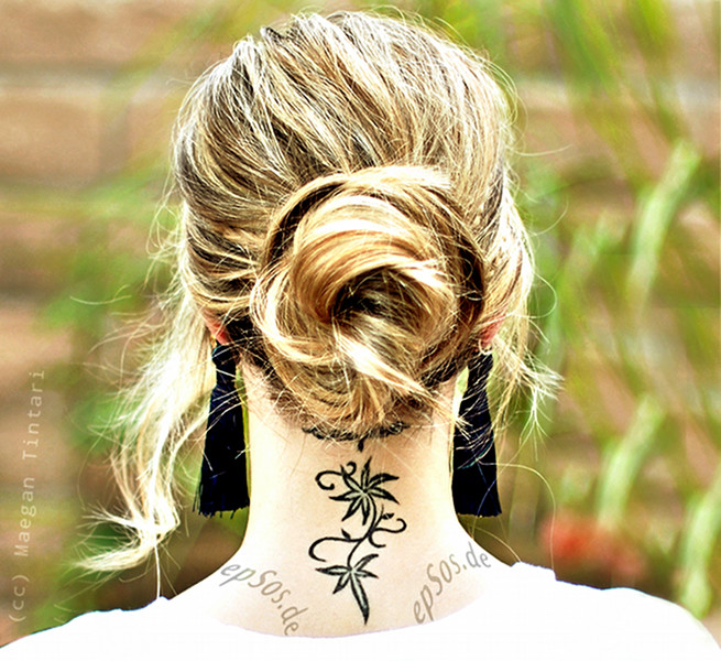 Best female neck tattoo designs for women.