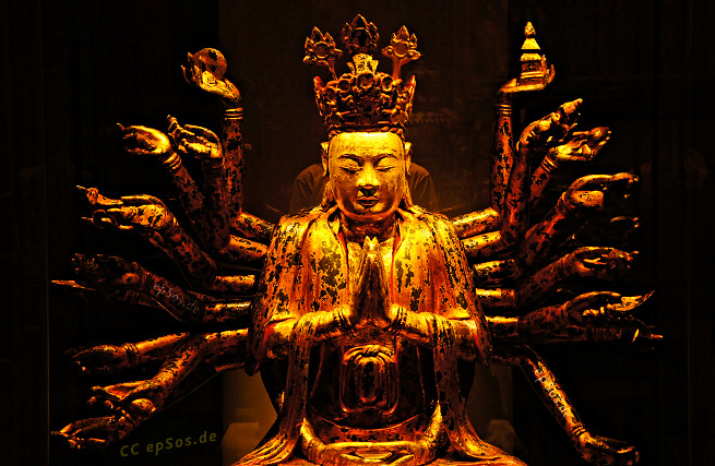 Golden Buddha sculpture from gold statue.