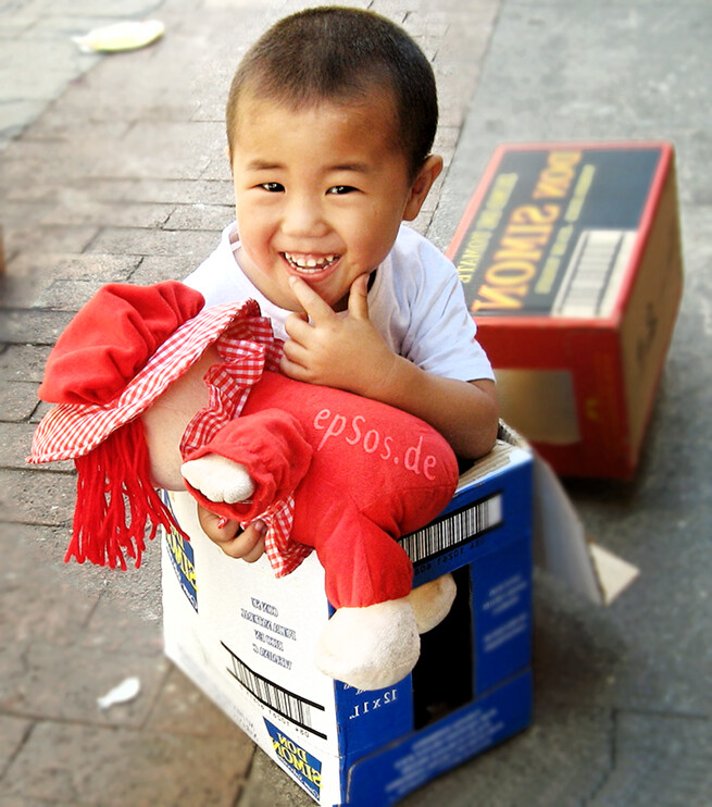 happy Asian boy is cute.