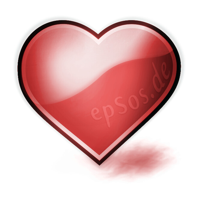 Red Heart For Romantic Love Epsos