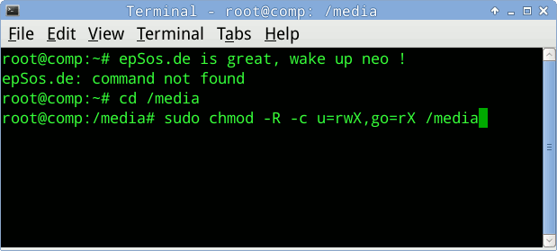 Linux Terminal commands file permission.