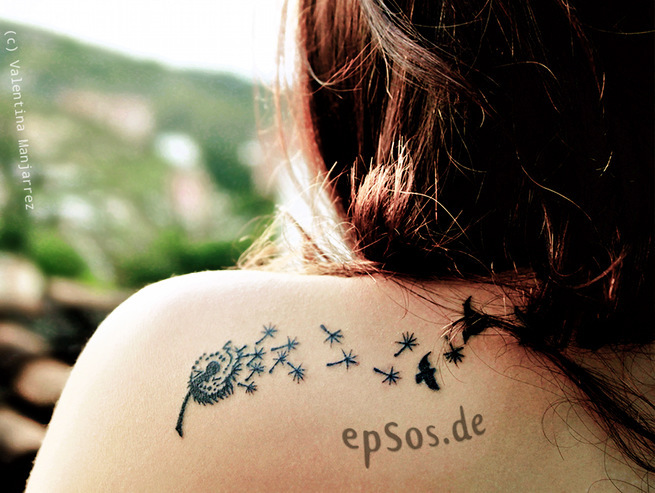 Best idea for shoulder back tattoo designs for women.