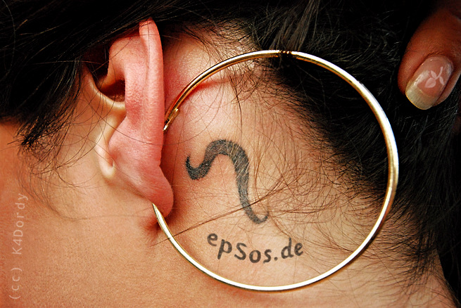 Best idea for the small ear tattoo designs for women behind the ear.