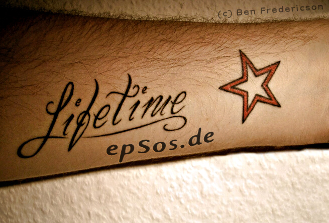 Star tattoo design ideas for wrist.
